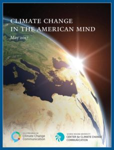cover of Climate Change in the American Mind, May 2017